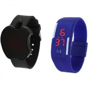 Hubert Combo of Silicon Apple Band LED Watches