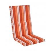 Kerti bútor párna, magas támlás székhez, narancs