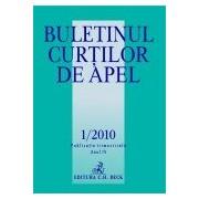 Buletinul Curtilor de Apel, Nr. 1/2010.