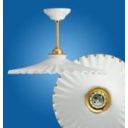 > Lampadario a soffitto fisso Ventaglio gocce oro Ø280