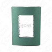 Placa para Contacto o Apagador Estevez 2573-VD 3 Módulos-Verde Soft