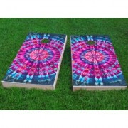Custom Cornhole Boards Tie Dye Cornhole Game CCB384