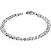 Ezüst színű nemesacél karlánc ékszer