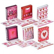 Valentines Sticker Gift Boxes two bags of 18-ct. Packs-Each box contains 8 stickers.-A Valentines Day give away that r