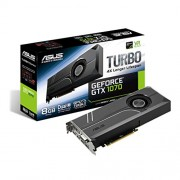 Asus GeForce GTX 1070 TURBO-GTX1070-8G - Scheda Grafica, 8 GB GDDR5, Nero