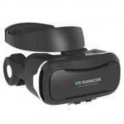 Ochelari VR 3D Shinecon model G04 cu casti integrate (Negru)