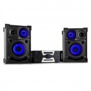 Malone Hotrod 2000 sistem de boxe party audio, pereche 800W Bluetooth DVD HDMI AV USB FM AUX