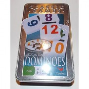 Mexican Train Dominoes with 2 Color Numbers