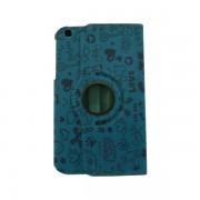 Funda Giratoria Samsung Galaxy Tab 3 SM-T311 8 pulg Turquesa Decorada