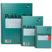 Caiet cu spirala dubla A4, 100 file 80g/mp, coperti carton, PUKKA Metallic - dictando