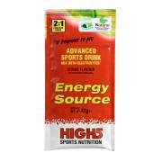 High5 Energy Source Żywność energetyczna cytrynowe 47 g z elektrolitami czerwony Suplementy fitness