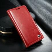 Samsung Galaxy S6 rustiek leren boekhoesje rood