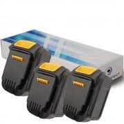 Lot de 3 batteries pour DEWALT DCL030 lampe torche 3000mAh 14.4V - Visiodirect -
