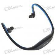 USB recargable de moda Sport MP3 Player con ranura TF (azul)