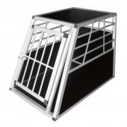 vidaXL Клетка за транспортиране на кучета, размер L
