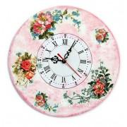 Ceas de perete model floral 5716