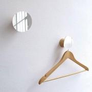 Bolet, patère et miroir, hêtre massif et verre, design éco-responsable