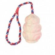 Zsinóros gumijáték kutyának - gránát, kis méretű, 8 cm