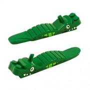 Lego Brick Piece Separator Tool - Cute Green Alligator Accessories (Pack of 2)