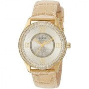 GUESS Brown Stainless Steel Round Dial Analog Watch For Women (W0768L2)