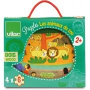 Vilac - 2642 - Puzzles Les Animaux Du Zoo - 24 Pièces