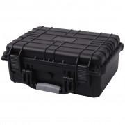 vidaXL Ochranný kufrík na náradie, 40.6x33x17.4 cm, čierny