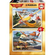 Educa - 15956 - Puzzle Classique - Planes Fire Rescue - 2 x 48 Pièces