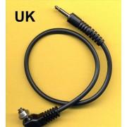 Male pc SCREWLOCK sync cord to 3.5 mm jack 30 cm