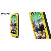 Pancerne etui LOVE MEI do HTC One M8 - Żółty