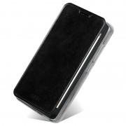 Capa em Pele com Cobertura Mofi Rui Series para Huawei Ascend G630 - Preto