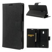 Mercury Goospery Fancy Diary Wallet Case for Nokia Lumia 1320 - Black