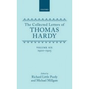 The Collected Letters of Thomas Hardy: 1920-1925 Volume 6 by Thomas Defendant Hardy