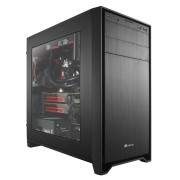 Corsair Obsidian Series® 350D Windowed Micro ATX PC Case / must / Aknaga / USB3.0 (CC-9011029-WW)