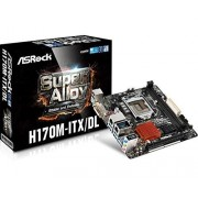 ASRock H170M-ITX/DL Carte mère Intel Mini ITX Socket LGA1151