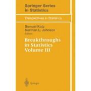 Breakthroughs in Statistics: v. 3 by Samuel Kotz