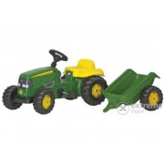 Tractor cu pedale Rolly Kid John Deere cu remorcă