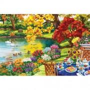 Mega Puzzles XL Autumn Garden Tea 2000pc Puzzle