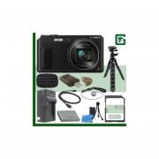 Panasonic Lumix DMC-ZS45 Digital Camera (Black) + 32GB Green's Camera Bundle 1