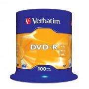 DVD-R 16x Verbatim Matt Silver Azo Tarrina 100 uds