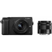 Aparat Foto Mirrorless Panasonic DMC-GX80W, cu Obiectiv 12-32mm + 35-100mm, Filmare Ultra HD 4K, 16 MP, Wi-Fi (Negru)