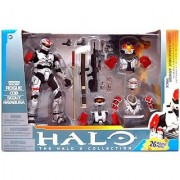 Halo 2009 McFarlane Toys Deluxe Action Figure Boxed Set Rogue Armor Pack WHITE Spartan Soldier Rogue CQB Scout & Hayab