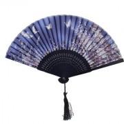 MagiDeal Butterfly Sakura Silk Bamboo Folding Hand Fan Wedding Party Gift