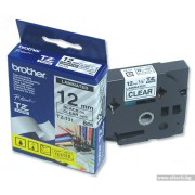 BROTHER TZ Tape, 12mm Black on Clear, Laminated, 8m lenght, for P-Touch (TZE131)