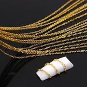 10meters de ouro banhado a cadeia de linha do metal 3d liga nail art decoração