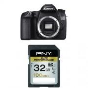 Canon - EOS-70D - Appareil Photo Numérique - Objectif 18-135mm - 20,9 MP + Carte mémoire SD PNY