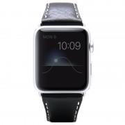 Bracelete em Pele SLG Design D6 Minerva para Apple Watch - 42mm - Preto
