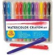 Studio Series Watercolor Crayon Set (12 Water Soluble Gel Crayons) by Peter Pauper Press