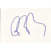 Boris Becker Autographed Index Card