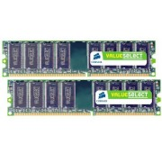 Corsair VS2 GBKIT667D2 Value Select Memoria da 2 GB (2x1 GB), DDR2, 667 MHz, CL5
