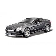 Bburago 18-21066 - Mercedes Benz SL 65 AMG Hardtop Modellino, Scala 1:24, Colori Assortiti: Nero Metallizzato/Rosso Metallizzato